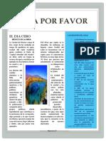 """7mo. ARTÍCULO DR. VIVIENDA semana 23 """"AGUA POR FAVOR"""""""