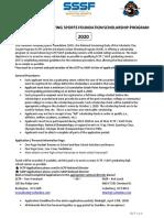 2020 Scholarship Application