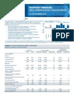 Rapport mensuel des operations financieres