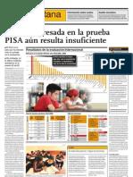 Mejora expresada en prueba PISA aún es insuficiente