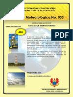 ALERTA METEOROLOGICA No 033 del 02-07-19 13Z a 10-07-19 23Z
