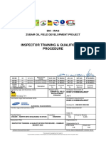 QA-QC INSPECTOR TRAINING & QUALIFICATION PROCEDURE  ENI IRAQ
