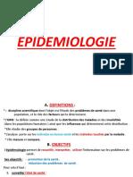 COURS 16 EPIDEMIOLOGIE
