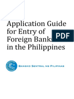 Application Guide for Foreign Banks