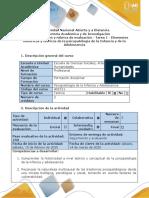 Guía de actividades y rúbrica de evaluación -Tarea 1 - Elementos históricos y teóricos de la psicopatología de la Infancia y de la Adolescencia