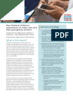 New Zealand Children Online Risks Report 2020