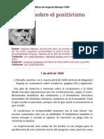 Auguste Blanqui 1869 sobre el positivismo
