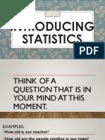 1 INTRODUCING STATISTICS