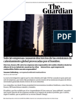 Solo 90 Empresas Causaron Dos Tercios de Las Emisiones de Calentamiento Global Provocadas Por El Hombre