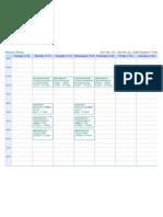 Class Schedule Fall 2008