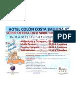 Oferta Diciembre'10 - Enero'11 Hotel Colón Costa Ballena