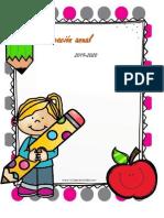 Planeación Anual para Preescolar 2019- 2020