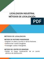 ejemplos de métodos de localización