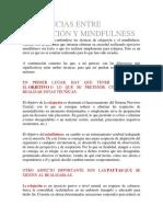 DIFERENCIAS ENTRE RELAJACIÓN Y MINDFULNESS
