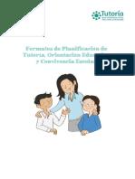 PLANIFICACION DE LA TUTORÍA, ORIENTACIÓN EDUCATIVA Y CONVIVENCIA ESCOLAR (1)