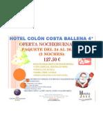 OFERTA NOCHEBUENA 2010 HOTEL COLÓN COSTA BALLENA