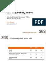 Stability Studies India 0307