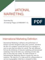 Unit 1-International Marketing.