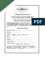 SAAREB - 2011 Membership Application