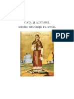 Viata Si Acatistul Sfintei Mucenite Filofteia