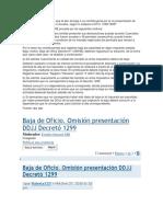 Baja Automatica AFip Dto 1299-98