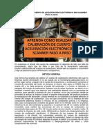 CALIBRACIÓN DE CUERPO DE ACELERACIÓN ELECTRÓNICO SIN SCANNER