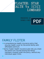 comparisionion Between Family Floater Plan of ICICI Pru &andStar Health