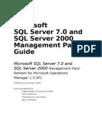 SQL Server MP Guide