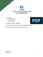 InukTIC - données de fréquentation au 30 novembre 2010