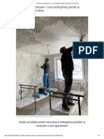 Renovare Apartament - Cum Îndreptăm Pereții Și Tavanul Unei Locuințe