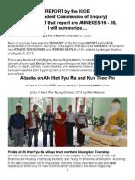 ICOE-Ah Htet Pyu Ma, Kun Thee Pin Attacks, Summarized