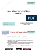 Laser Micro Machining Materials