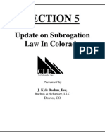 Colorado's New State Subrogation Law