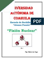 Fisión Nuclear trabajo