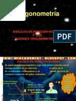 RAZONES TRIGONOMETRICAS DE ANGULOS EN POSICION NORMAL.ppt