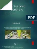 Plantas para concreto