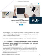 10 Questions about SAP BW_4HANA Answered