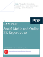 44328974 Social Media and Online PR Report 2010