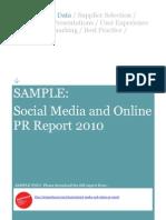 44328974 Social Media and Online PR Report 2010