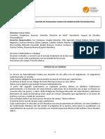 Programa Especialización Psicología Clínica
