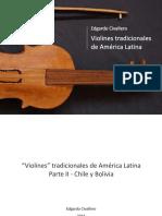 """""""Violines"""" tradicionales de América Latina. Parte II"""