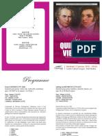 Programme Quintettes viennois