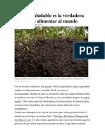 El suelo saludable es la verdadera clave para alimentar al mundo