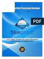 Blue Prism Certified Professional Developer (APD01)