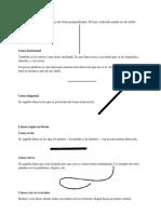 líneas según su posición y su forma