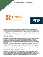 Consultar faturas da Copel e histórico de consumo