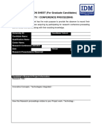 Research Conference Proceeding - Observation Sheet
