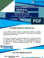 EXPOSICIÓN LEY DE LA COMPETENCIA DESLEAL