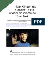 Sociolinguística Não falo Klingon tão bem assim