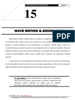 Wave Motion Sound Wave